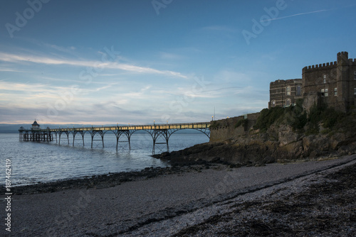 clevedon pier at sunset - 187462419