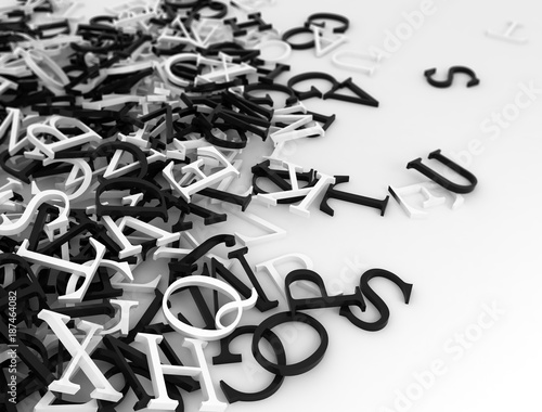 Abstract 3D Letters Background