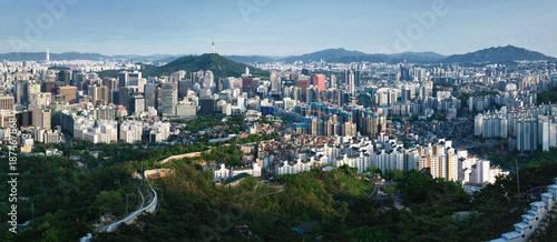 Deurstickers Seoel Panorama of Seoul