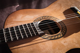 Dusty Classical Guitar Close-up - 187469432