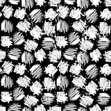 Ink hand drawn abstract shapes seamless pattern - 187471289