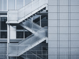 Architecture detail Glass Stairs Modern building exterior - 187475488