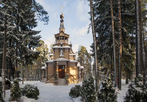 Fotobehang Kameel Church of St. Seraphim of Sarov. Sand. St. Petersburg. Russia