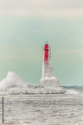 Winter Afternoon Lighthouse Poster