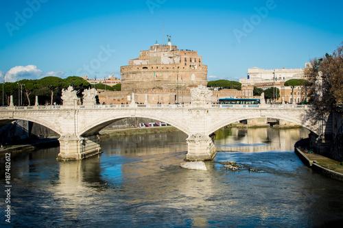 Fotobehang Rome Engelsburg mit Tiber