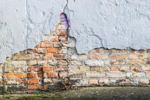 In de dag Baksteen muur Wand0901a