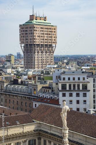 Fotobehang Milan Torre Velasca in Milano