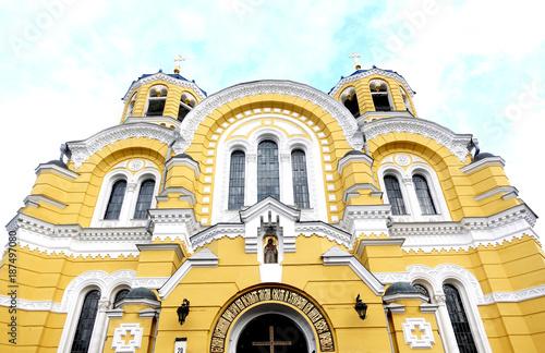 Fotobehang Kiev Central entrance to the St.Vladimir's Cathedral, Kiev, Ukraine
