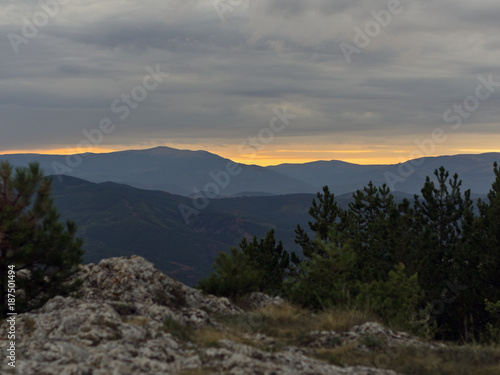 Staande foto Grijs Sunset
