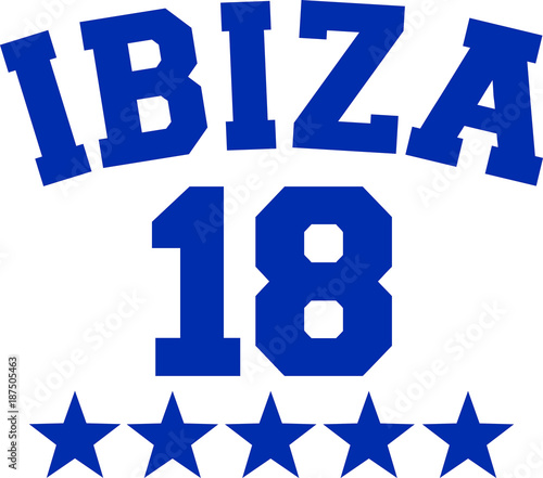 Ibiza 18 stars dark blue