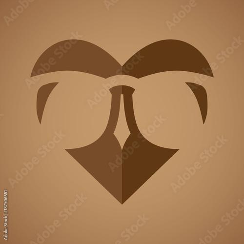 Keuken foto achterwand Uilen cartoon owl logo