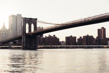 Brooklyn bridge of New York.