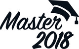Master 2018 with mortarboard - 187509621