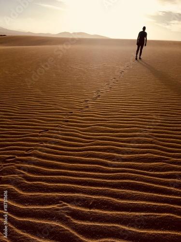 men on the desert