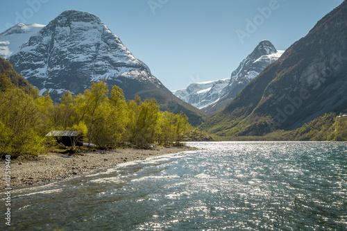 Fotobehang Landschappen Norwegian landscape in spring