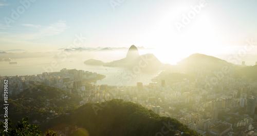 Aerial panorama of Rio de Janeiro, Brazil