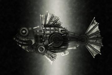 Steampunk style piranha