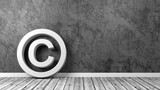 Copyright Symbol on Floor with Copy Space - 187521238