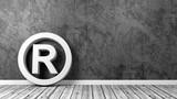 Trademark Symbol on Floor with Copy Space - 187522697