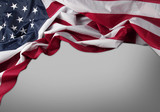 USA flag on grey background - 187523629