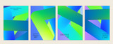 Creative modern cover template 3d liquid fluid color shape - 187526013