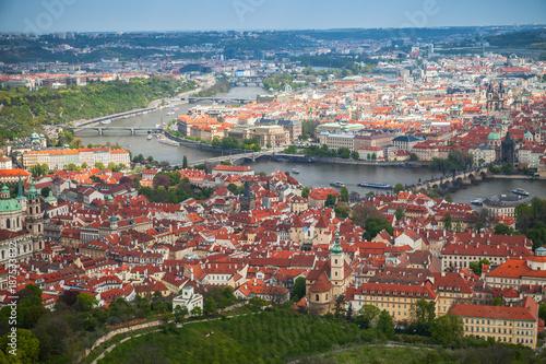 Aerial panoramic view of Prague Poster
