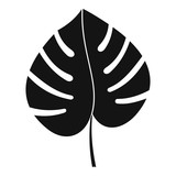 Leaf of monstera icon, simple style