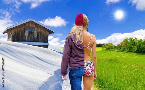 Foto Murales Wechsel der Jahreszeiten - Change of the seasons