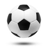 soccer ball on isolated