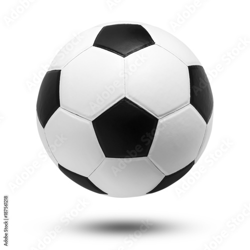 Staande foto Bol soccer ball on isolated