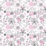 Seamless romantic floral pattern - 187564809