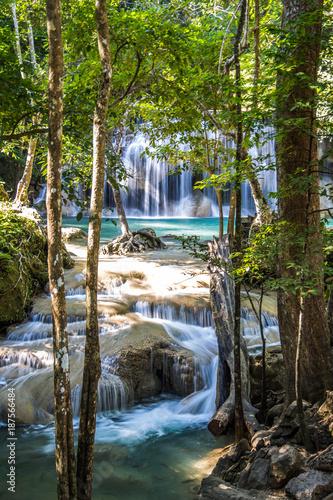 Erawan waterfalls in Kanchanaburi, Thailand - 187566484