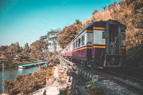 Fototapeta Death Railway in Kanchanaburi, Thailand