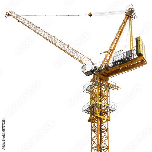 Construction crane isolated