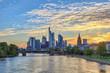 Frankfurt sunset city skyline at business district, Frankfurt, Germany