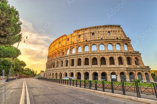 Fotobehang Rome Rome sunrise city skyline at Rome Colosseum (Roma Coliseum), Rome, Italy