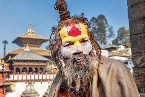 Foto Murales Sadhu, Pashupatinath, Kathmandu, Nepal