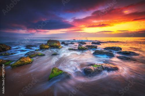 Fridge magnet Sunrise over the beach