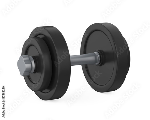 Poster Metal Dumbbell Isolated