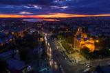 Aerial view of Varna at sunset - 187588481