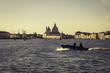 Sunrise in Venice with morning view on Basilica della Salute