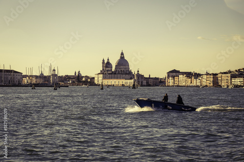 Fotobehang London Sunrise in Venice with morning view on Basilica della Salute