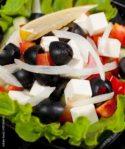 greek salad, macro - 187606036