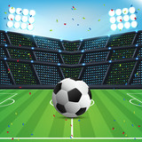 Abstract Sport Soccer Background with Space for text and Design. Champions League Team Vector Background - 187606270