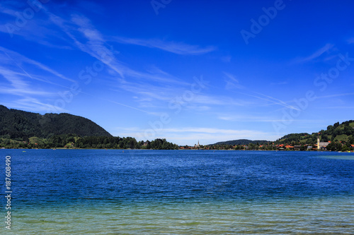 Poster Donkerblauw Majestic Lakes - Schliersee