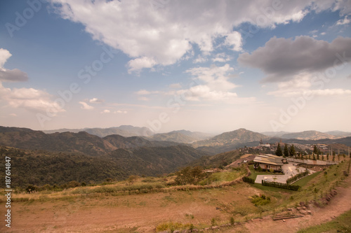 mountain and sky landscape view in National Park, Thailand - 187614847