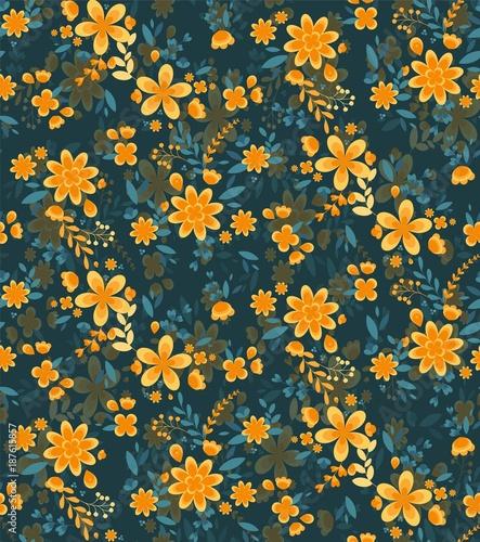 Seamless spring floral pattern - 187615857