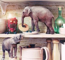 The tiny elephants