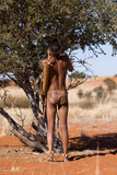 bushmen of the kalahari desert in africa - 187623283