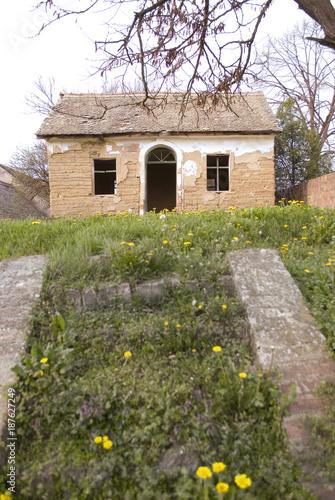 Fotobehang Oude verlaten gebouwen Abandoned building - Old Ruin, Factory, Window, Built Structure, Wall - Building Feature